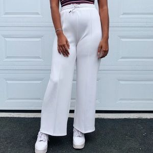 BRAND NEW White Wide Leg Pants